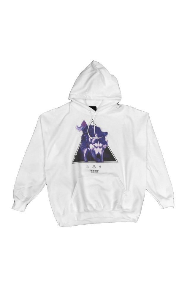 H>FRACTAL ORIGINAL - GRAPHIC PARKA - THOR(WHITE)「フラクタル」[パーカー]