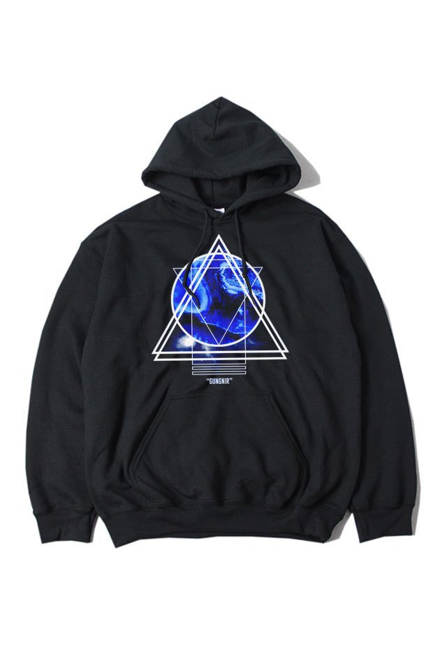H>FRACTAL ORIGINAL - GRAPHIC PARKA - GUNGNIL(BLACK)「フラクタル」[パーカー]