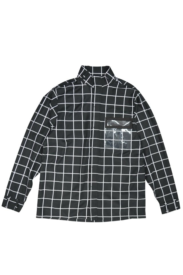 【20%OFF】PARADOX - HIGHNECK SHIRTS (GRID)「パラドックス」[シャツ]