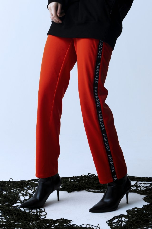 【10%OFF】PARADOX - LINE JERSEY PANTS (ORANGE)「パラドックス」[パンツ]