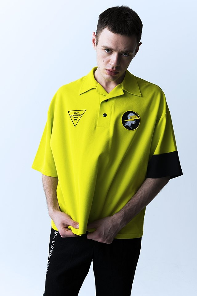【10%OFF】PARADOX - OPEN COLLAR POLO SHIRTS (NEON YLW) 「パラドックス」[シャツ]