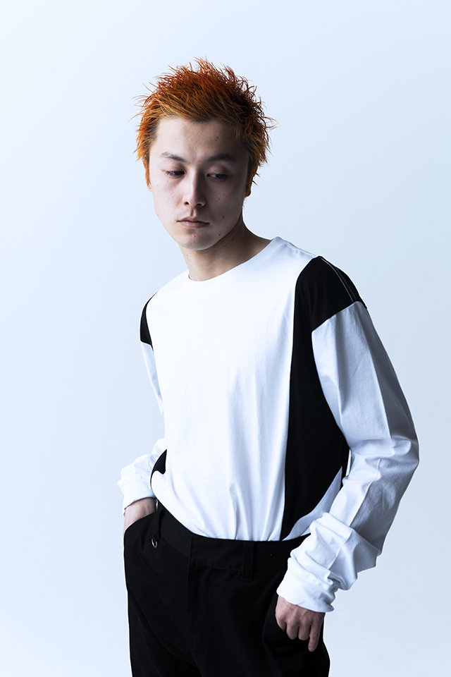 【20%OFF】PARADOX - SWITCH L/S TEE (WHITE-BLACK)「パラドックス」[シャツ]