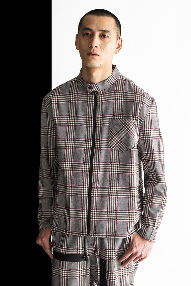 MUZE-PLAID RIDERS SHIRTS(RED×GRAY)「ミューズ」[ジャケット]