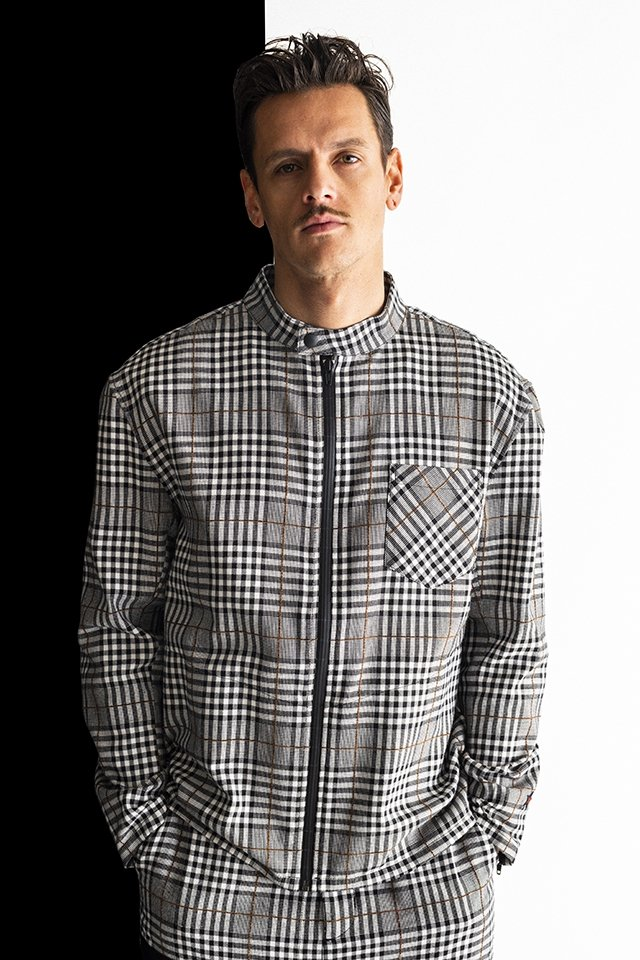 MUZE-PLAID RIDERS SHIRTS(BLACK×GRAY)「ミューズ」[ジャケット]