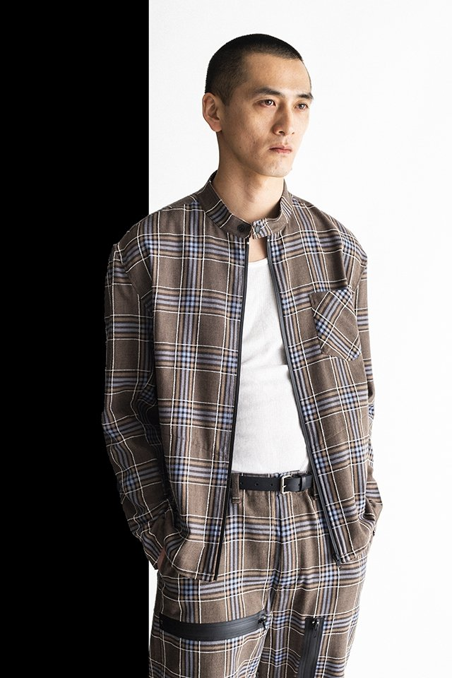 MUZE-PLAID RIDERS SHIRTS(TURQUOISE×BROWN)「ミューズ」[ジャケット]