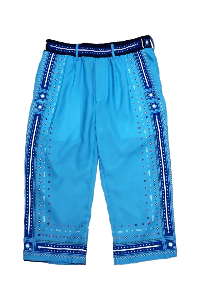 MUZE×SAPPORO LAGER BEER-EASY PANTS(TURQUOISE)「ミューズ」[パンツ]