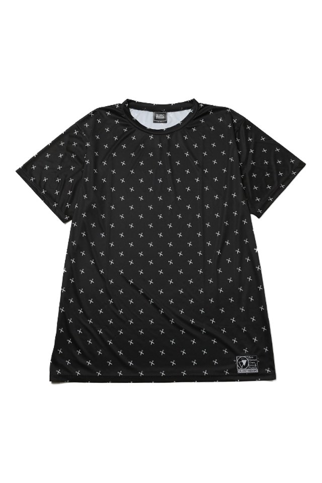 SILLENT FROM ME - SHEARS -Patterned Short Sleeve- (BLACK/WHITE)「サイレントフロムミー」[シャツ]