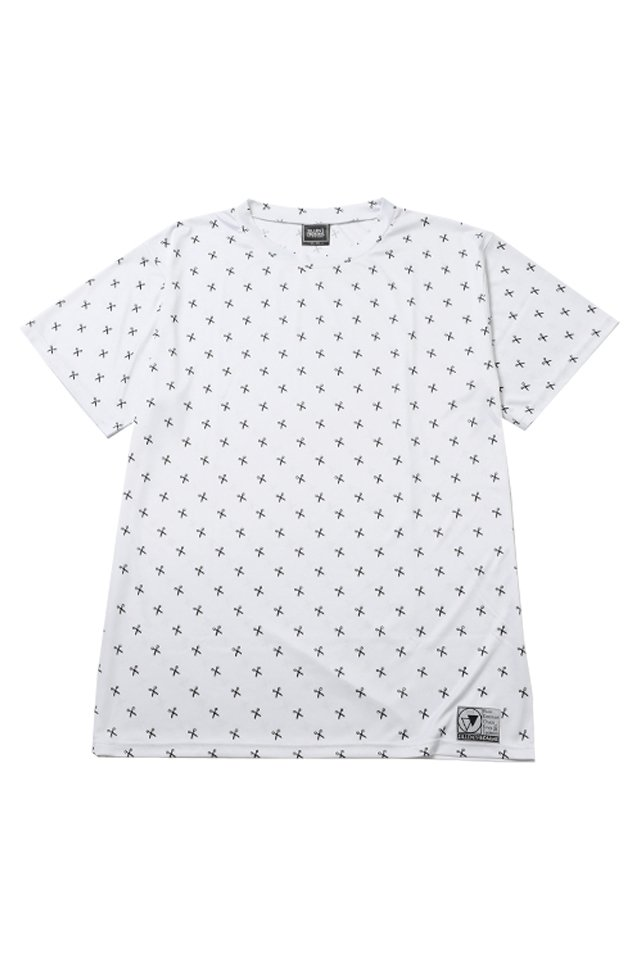 SILLENT FROM ME - SHEARS -Patterned Short Sleeve- (WHITE/BLACK)「サイレントフロムミー」[シャツ]