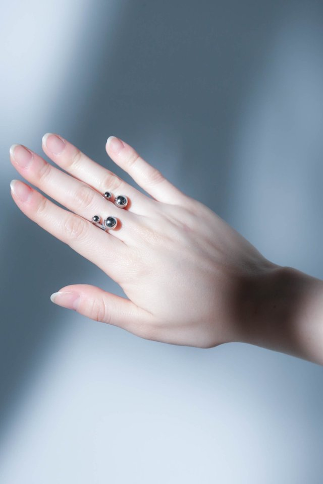 unclod - FINGER PIERCE RING typeC (SILVER)   「アンクロッド」[リング]