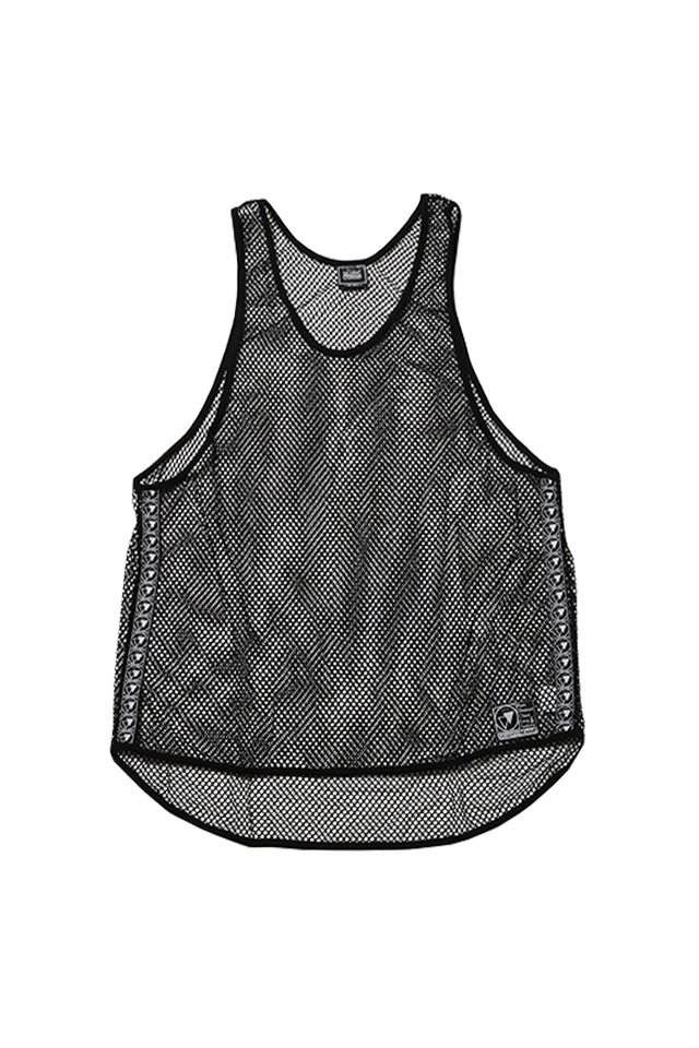SILLENT FROM ME - MIST -Net Tank Top- (BLACK)「サイレントフロムミー」[シャツ]