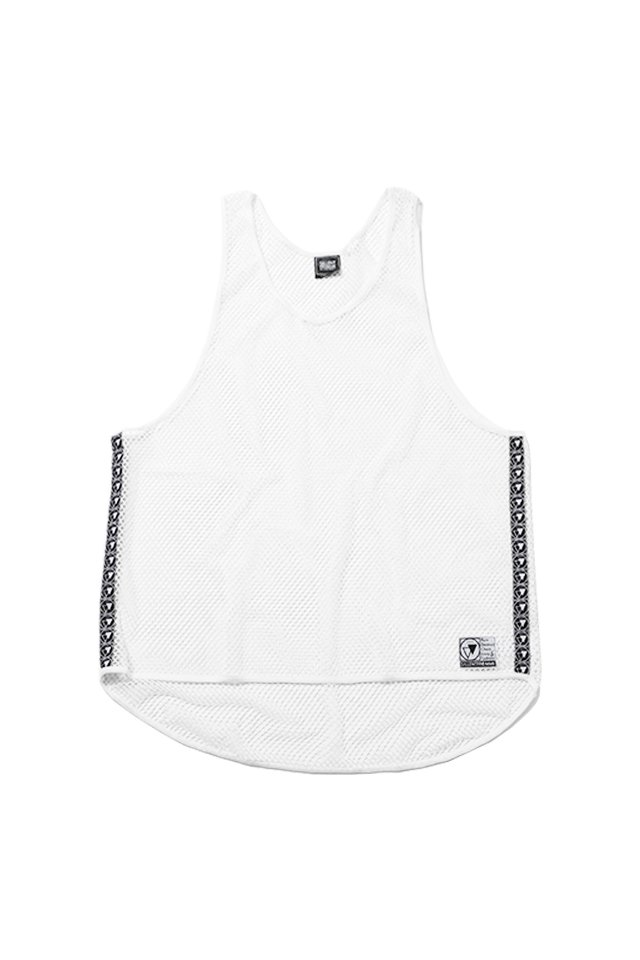 SILLENT FROM ME - MIST -Net Tank Top- (WHITE)「サイレントフロムミー」[シャツ]
