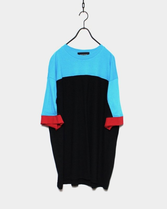 SHINICHI SUMINO - MULTICOLOR TEE(TURQUOISE×BLACK)