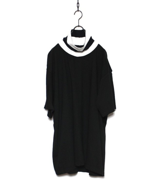 SHINICHI SUMINO - STRIPE HIGH NECK TEE(BLACK×WHITE)