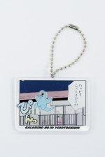 ギャルと恐竜 - アクリルキーホルダー(ぴょんっ)