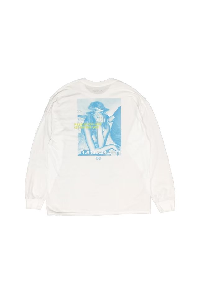 PARADOX - PLAY GIRLS L/S TEE(WHITE)