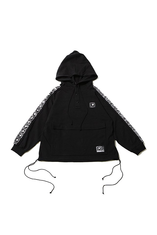 SILLENT FROM ME - RESULT -Half Snap Pullover-(BLACK)