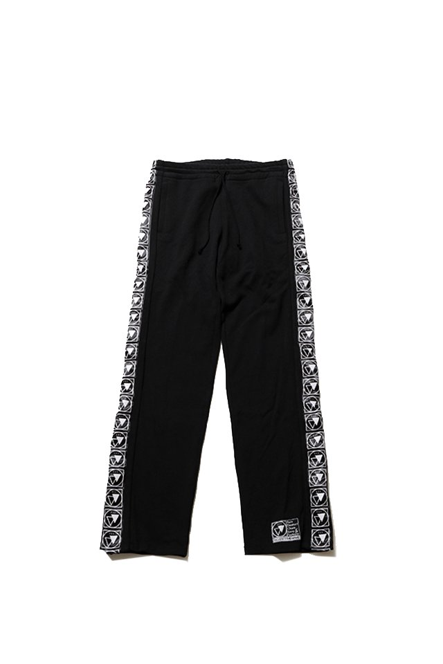 SILLENT FROM ME - RESULT -Side Snap Track Pants-(BLACK)
