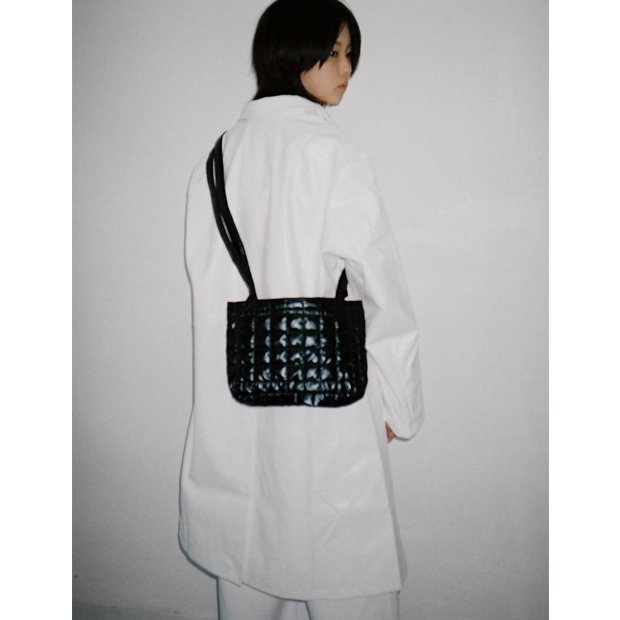 IKUMI - QUILT BAG(BLACK)