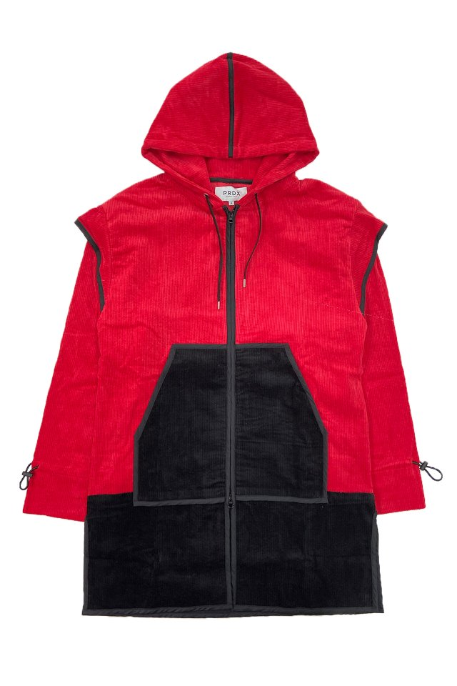 PARADOX-PIPING ZIP PARKA (RED)