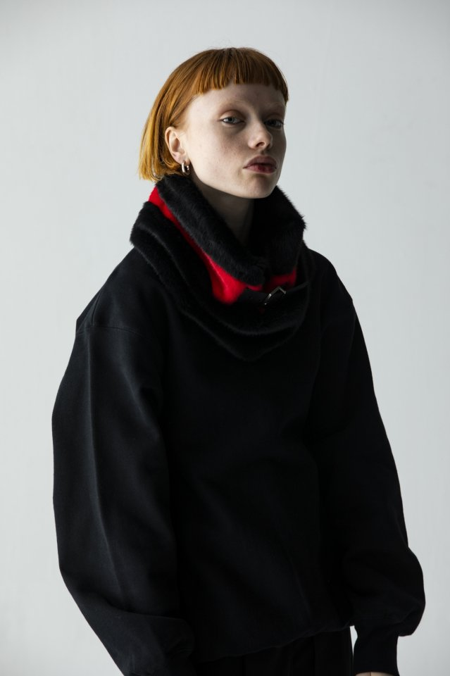 PRDX × BTD - FUR SNOOD (RED)