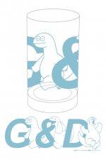 ギャルと恐竜 - GAL&DINOグラス(BLUE)