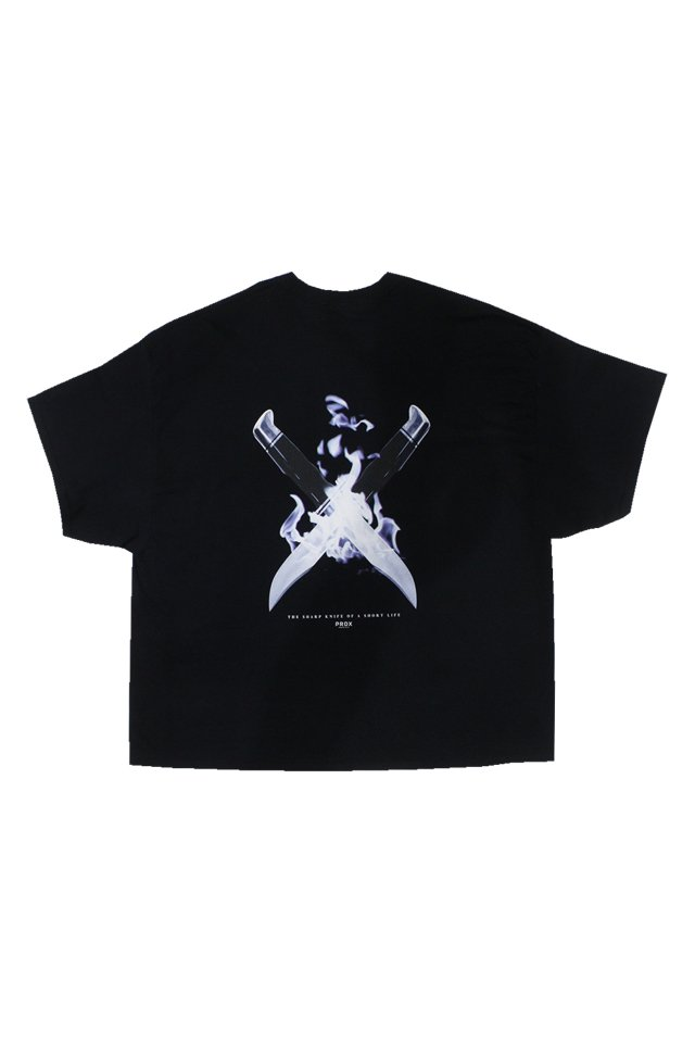 【50%OFF】PARADOX - WIDE TEE KNIFE(BLACK)
