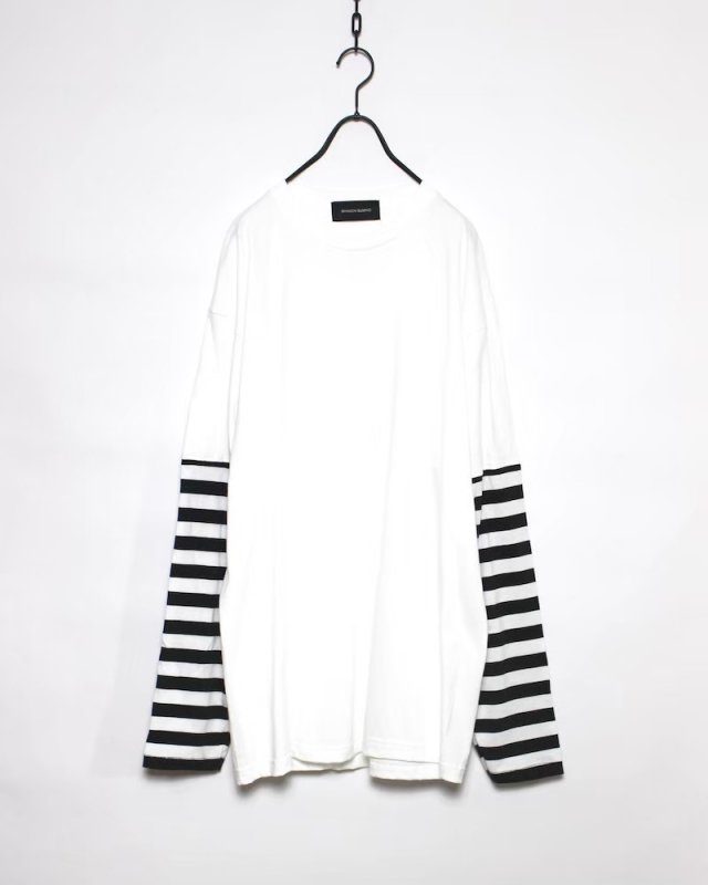SHINICHISUMINO - STRIPE LONG SLEEVE TEE(WHITE)