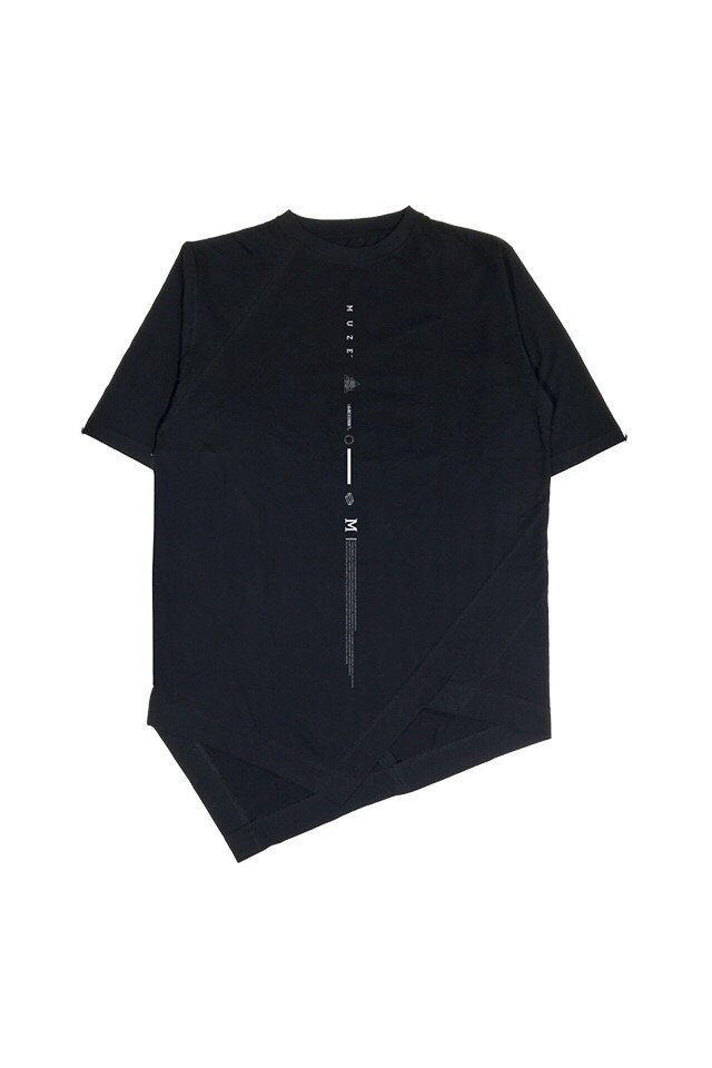 MUZE BLACK LABEL - LAYERED S/S TEE (BLACK)