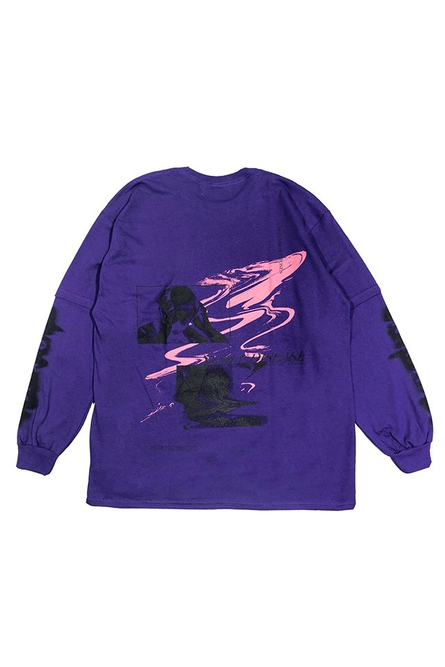 【30%OFF】PRDX PARADOX TOKYO - FAKE LAYERED L/S TEE [NOBLE DISEASE] (PURPLE)