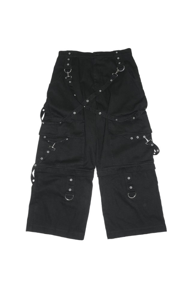 IKUMI - PIERCED DENIM PANTS(BLACK)