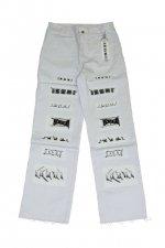IKUMI - IKUMI LOGO LONG PANTS (WHITE)