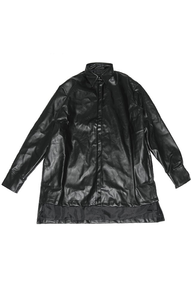 IKUMI - FAKE LEATHER SHIRT