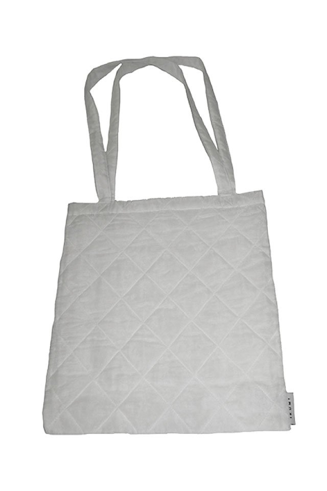 IKUMI - QUILT COTTON BAG(WHITE)