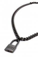 unclod - PADLOCK NECKLACE(GUNMETALBLACK) アンクロッド パドロックネックレス