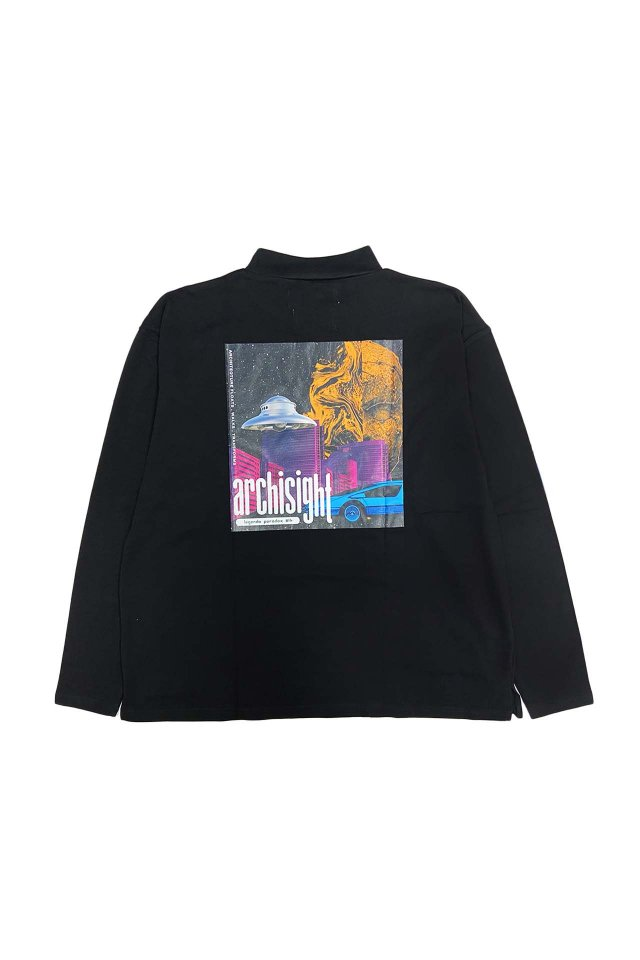 LEGENDA® × PRDX PARADOX TOKYO - REFLECT HI NECK L/S TEE-GRAPHIC(BLACK)