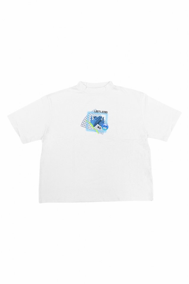 LISTLESS - MOCK NECK TEE『再生2.0』(WHITE)