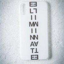 ELIMINATE - LOGO iPhoneCase(WHITE)