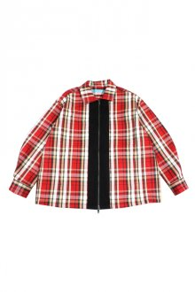 MUZE TURQUOISE LABEL - FLANNEL CHECK ZIP BLOUSON(RED)