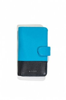<img class='new_mark_img1' src='https://img.shop-pro.jp/img/new/icons14.gif' style='border:none;display:inline;margin:0px;padding:0px;width:auto;' />MUZE - LEATHER SMART PHONE CASE (BLACK/TURQUOISE)