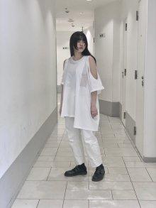ASYMMETRY T-shirt(WHITE)