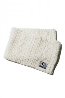 SILLENT FROM ME - VEIN - Cable Knit Snood -(WHITE)