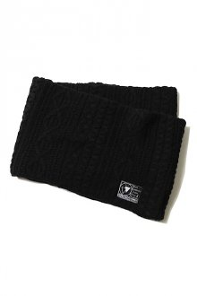 SILLENT FROM ME - VEIN - Cable Knit Snood -(BLACK)