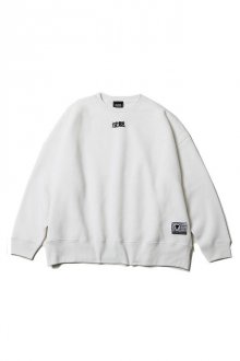 SILLENT FROM ME - 沈黙・秘密 -Loose Crew Sweat-(WHITE)