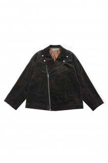 <img class='new_mark_img1' src='https://img.shop-pro.jp/img/new/icons14.gif' style='border:none;display:inline;margin:0px;padding:0px;width:auto;' />MUZE TURQUOISE LABEL - OVERSEIZE CORDUROY RIDERS JK(BROWN)