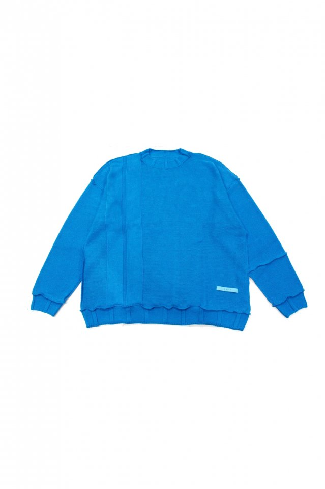 <img class='new_mark_img1' src='https://img.shop-pro.jp/img/new/icons14.gif' style='border:none;display:inline;margin:0px;padding:0px;width:auto;' />MUZE TURQUOISE LABEL - OVERSIZE INSIDEOUT KNIT(TURQUOISE)