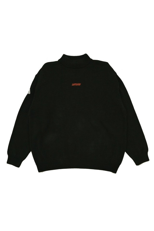 【20%OFF】LISTLESS - MOCK NECK KNIT 『HIMITSU』(BLACK)