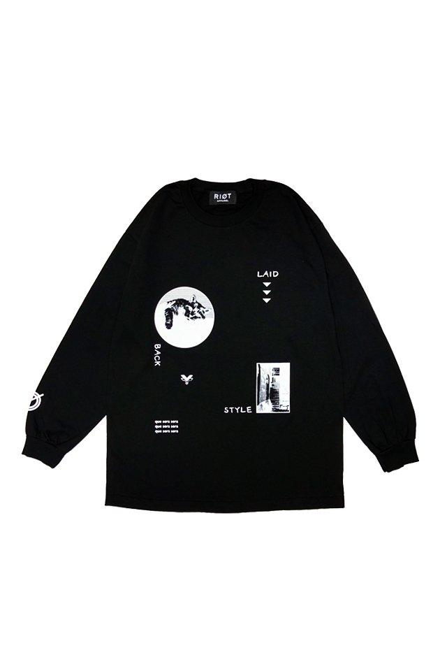 【販売終了】RIOT APPAREL - Yuka Nagase - Original L/S Tee ( BLACK )