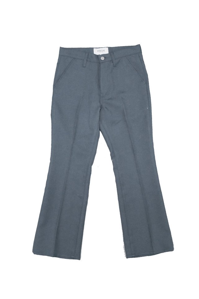 PRDX PARADOX TOKYO - TWILL FLARE TROUSERS(CHARCOAL)