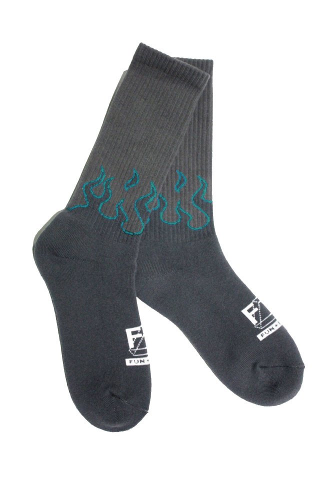 MUZE TURQUOISE LABEL × FUN - FIRE SOX Ver.II (CHARCOAL GRAY×WHITE)