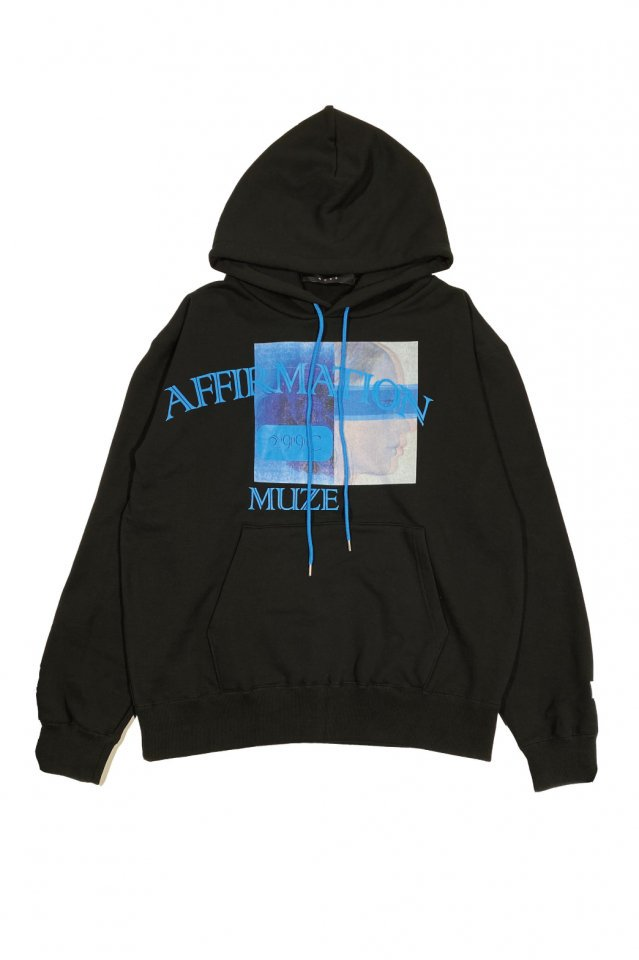 MUZE BLACK LABEL - affirmation HOODIE(BLACK)